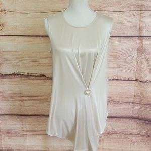 Zara Asymmetrical top with Pearl accent
